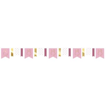 Haza Nijntje Baby Roze Vlaggenlijn - per stuk