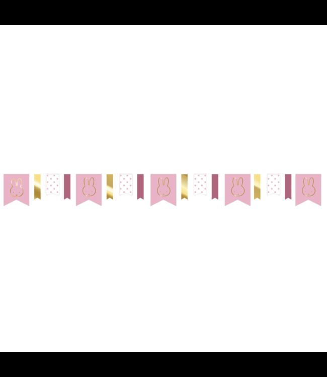 Haza Nijntje Baby Roze Vlaggenlijn - per stuk - Feest met nijntje