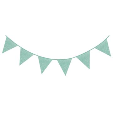 Haza Vlaggenlijn Mint Glitter - 6 meter
