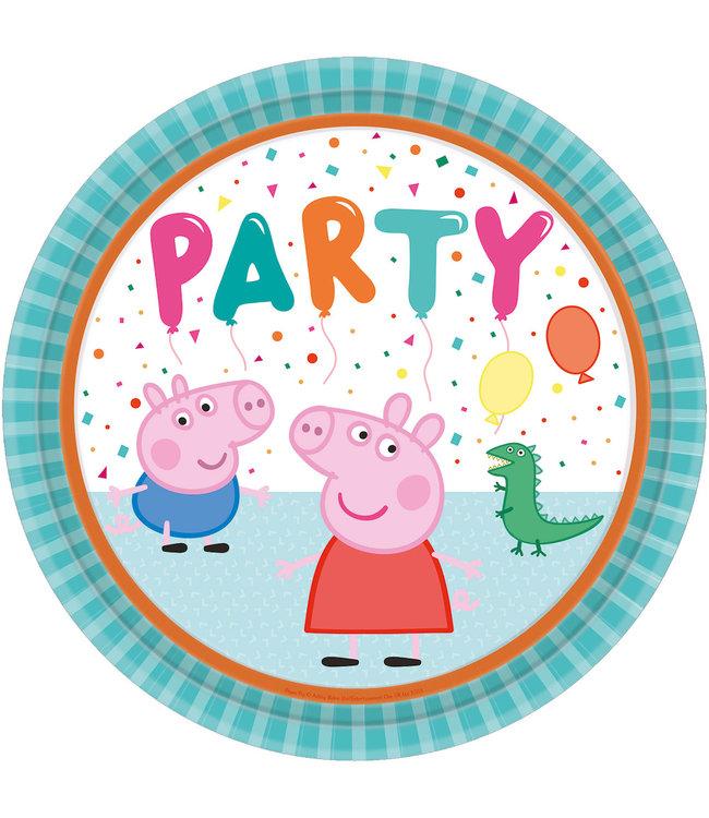 Amscan Peppa Pig Borden - 8 stuks (23 cm) - Peppa Pig feestartikelen