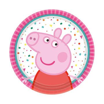 Amscan Peppa Pig Bordjes - 8 stuks (18 cm) - Peppa Pig feestartikelen