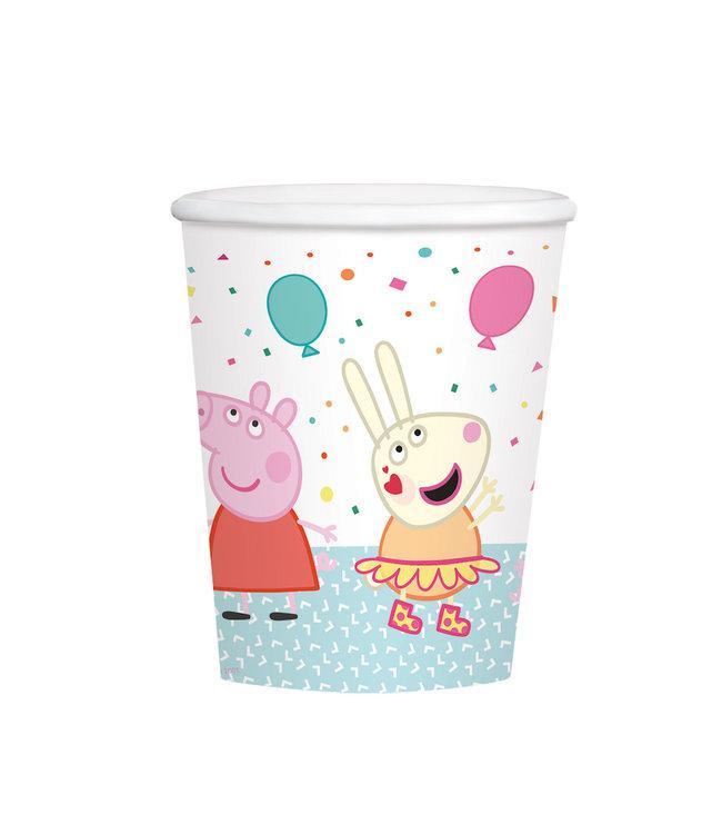 Amscan Peppa Pig Bekers - 8 stuks - Peppa Pig feestartikelen