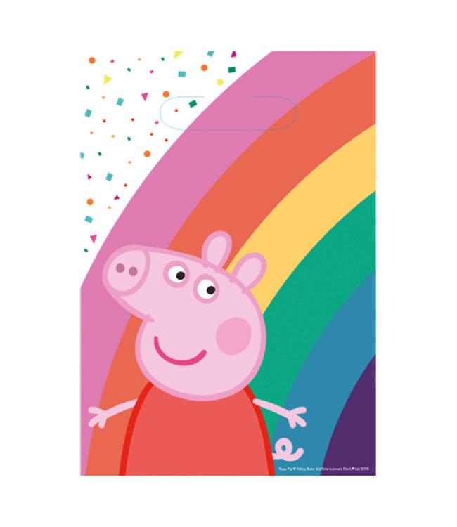Amscan Peppa Pig Uitdeelzakjes - 8 stuks - Peppa Pig feestartikelen