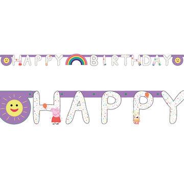 Amscan Peppa Pig Slinger 'Happy Birthday' - per stuk - Peppa Pig feestartikelen