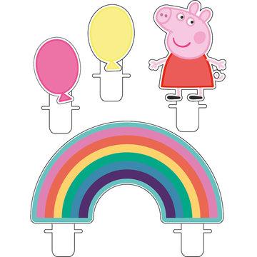 Amscan Peppa Pig Kaarsjes - set van 4 - Peppa Pig feestartikelen