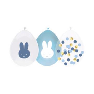 Haza Nijntje Baby Blauw Ballonnen - 5 stuks - Feest met nijntje