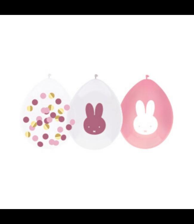 Haza Nijntje Baby Roze Ballonnen - 5 stuks - Feest met nijntje