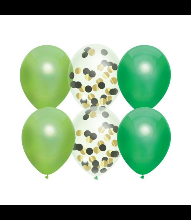 Haza Ballonnen Mix Groen - 6 stuks