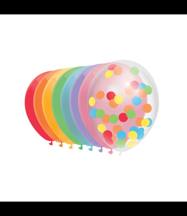 Haza Ballonnen Mix Regenboog - 10 stuks