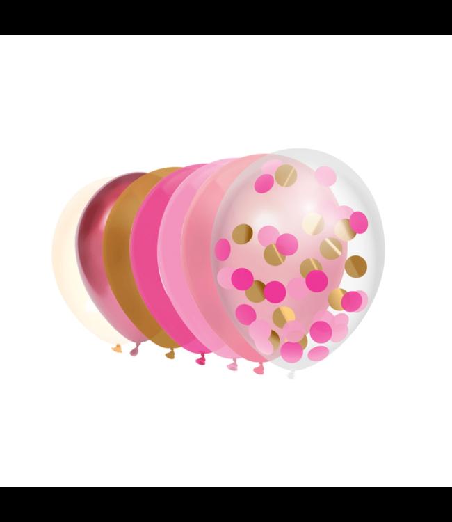 Haza Ballonnen Mix Roze - 10 stuks