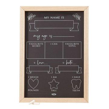 Ginger Ray Mijlpaal Krijtbord - per stuk - Voor de geboorte, de eerste maanden en verjaardag van je baby