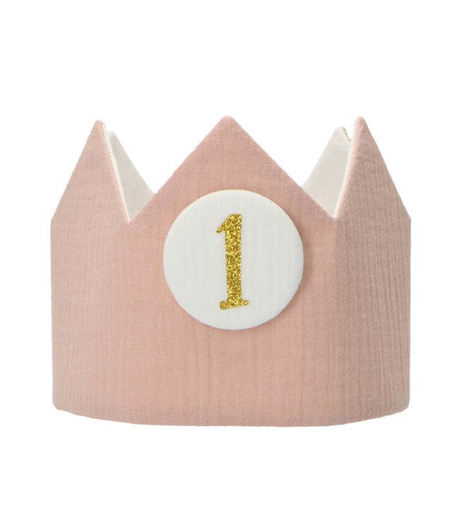 Liezelijn Verjaardagskroon Rosalie - per stuk - Stoffen kroontjes