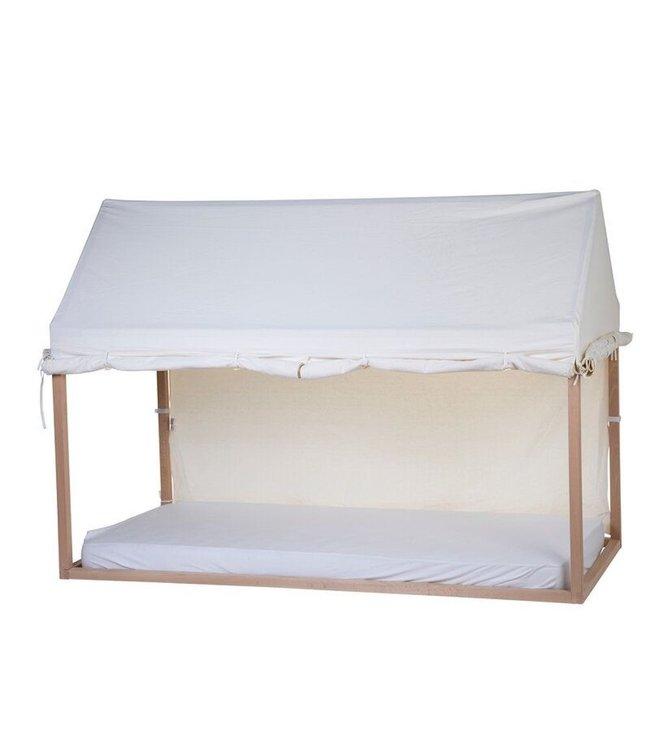 Childhome Cover Huis Bedframe Wit - 90 x 200 - Maak van het bed een tent