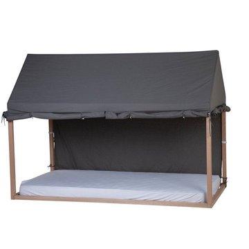 Childhome Cover Huis Bedframe Antraciet - 90 x 200 - Maak van het bed een tent