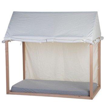 Childhome Cover Huis Bedframe Wit - 70 x 140 - Maak van het bed een tent