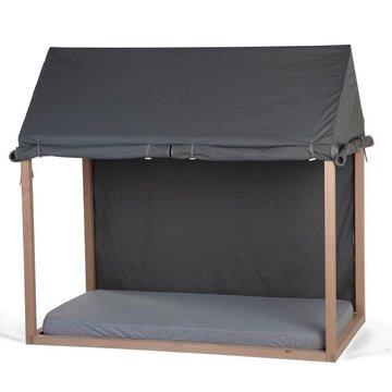 Childhome Cover Huis Bedframe Antraciet - 70 x 140 - Maak van het bed een tent