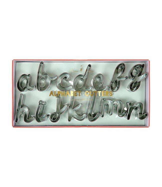 Meri Meri Alfabet Cookie Cutters - set van 27 uitstekers