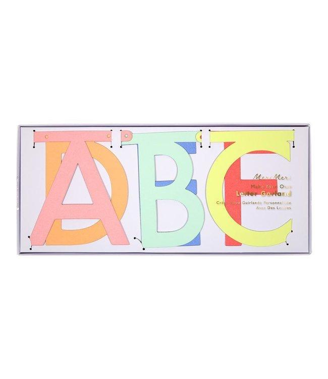 Meri Meri Letterslinger Pastel Neon (DIY) - set van 134 - Maak je eigen slinger