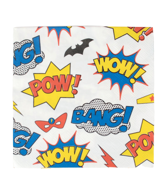 My Little Day Comic Superhelden Servetten - 20 stuks - Superhelden Feestartikelen