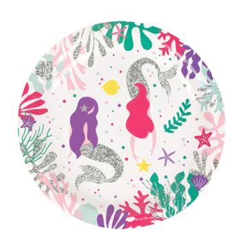 My Little Day Mermaids Borden - 8 stuks - zeemeermin feestartikelen