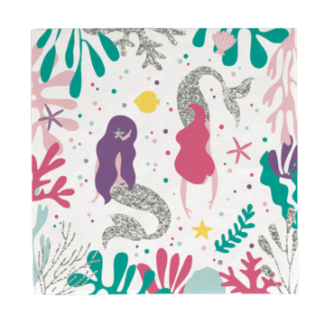 My Little Day Mermaids Servetten - 20 stuks - zeemeermin feestartikelen
