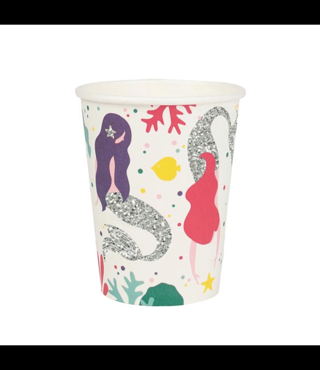 My Little Day Mermaids Bekers - 8 stuks - zeemeermin feestartikelen