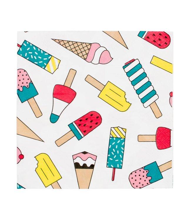 My Little Day IJsjes Servetten - 20 stuks - Ice Cream Feestartikelen
