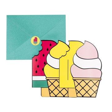 My Little Day IJsjes Uitnodigingen - 8 stuks - Ice Cream Feestartikelen