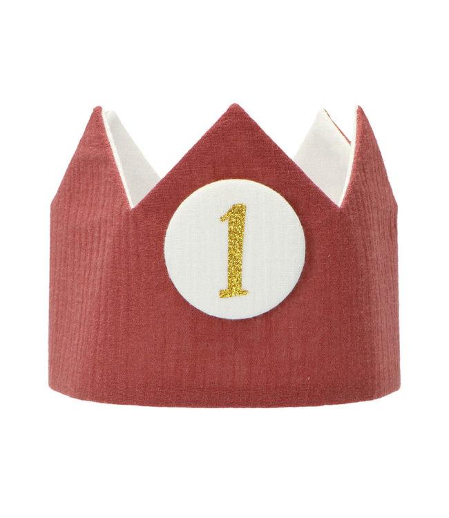 Liezelijn Verjaardagskroon Martha - per stuk - Stoffen kroontjes