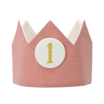 Liezelijn Verjaardagskroon Odette - per stuk - Stoffen kroontjes