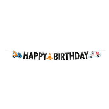 Amscan Redders op de Weg Slinger - per stuk - Letterslinger 'Happy Birthday'