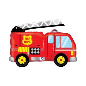 Betallic Brandweerwagen Folieballon (Supershape) - per stuk - Redders op de weg