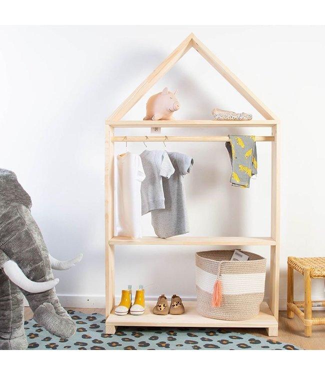 Childhome Kledingrek huisje voor kinderen - per stuk - Kindermeubels