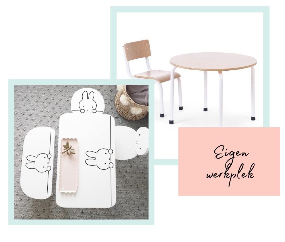 Kinderstoeltjes en tafeltjes