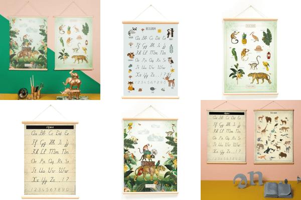 Schoolplaten en posters voor kinderkamers