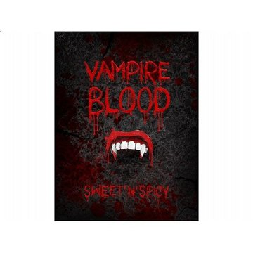 Partydeco Vampire Blood Dranklabels - 10 stuks