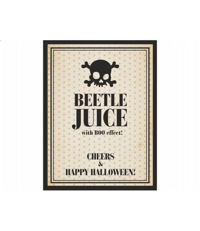 Partydeco Beetle Juice Dranklabels - 10 stuks