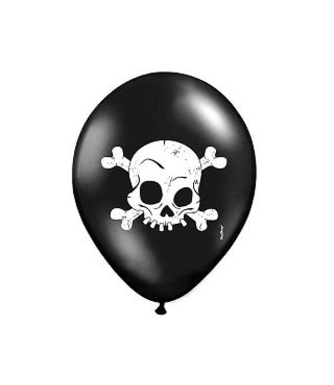 Partydeco Skelet Ballonnen - 6 stuks - 35 cm