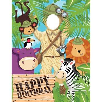 Creative Party Safari Avontuur Fotowand - 1,02 x 1,27 meter - plastic