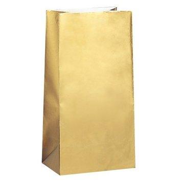 Unique Gouden Uitdeelzakjes - 10 stuks - papier