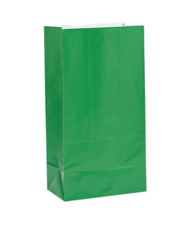 Unique Groene Uitdeelzakjes - 12 stuks - papier