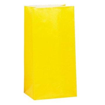 Unique Gele Uitdeelzakjes - 12 stuks - papier