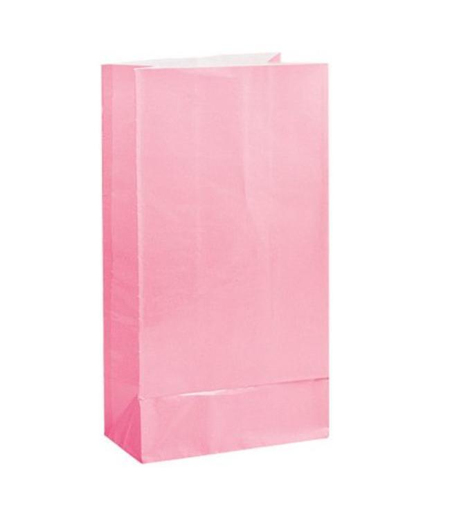 Unique Lichtroze Uitdeelzakjes - 12 stuks - papier