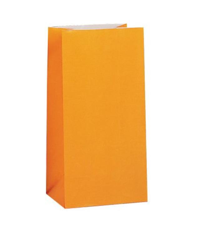 Unique Oranje Uitdeelzakjes - 12 stuks - papier