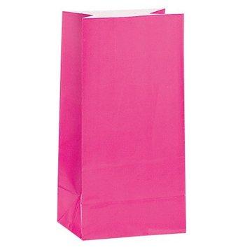 Unique Roze Uitdeelzakjes - 12 stuks - papier