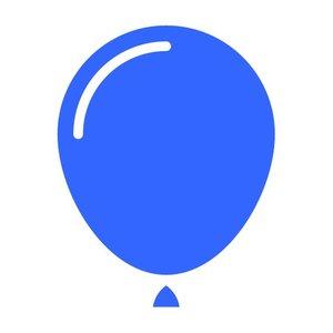 f85dc48d5e39a1 Lichtblauwe en blauwe versiering   decoratie voor een feestje - Hieppp