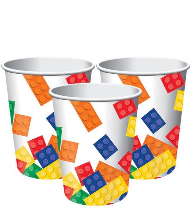 Creative Party Lego Blokken Bekers - 8 stuks