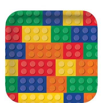Creative Party Lego Blokken Borden - 8 stuks - 23 cm
