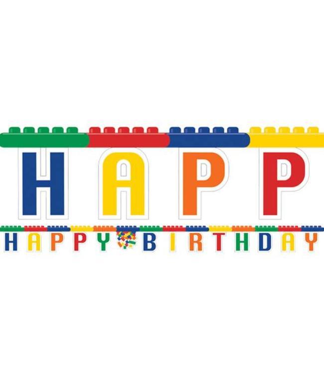 Creative Party Lego Blokken Letterslinger - 2,36 meter