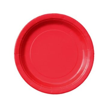 Unique Rode Bordjes - 20 stuks - 18 cm